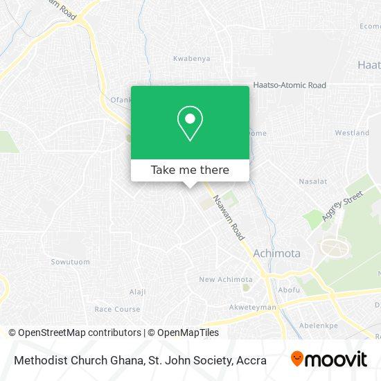 Methodist Church Ghana, St. John Society map