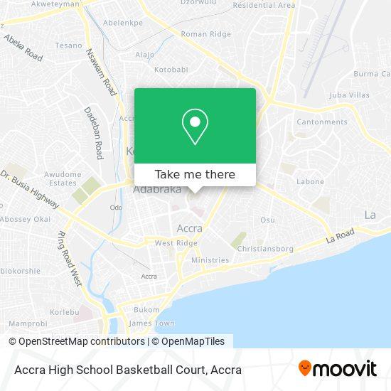 Accra High School Basketball Court map