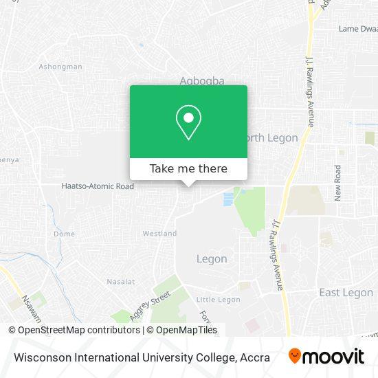 Wisconson International University College map