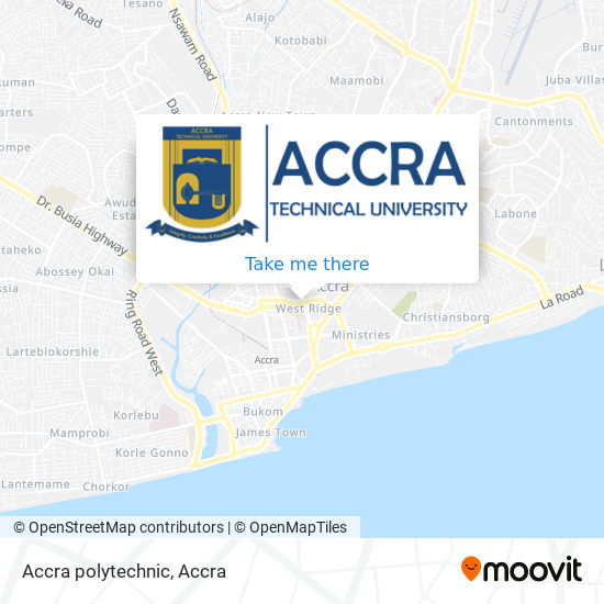 Accra polytechnic map