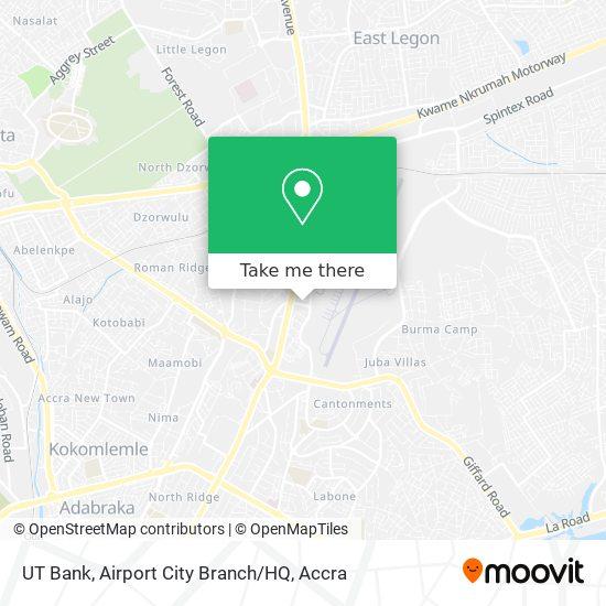 UT Bank, Airport City Branch / HQ map