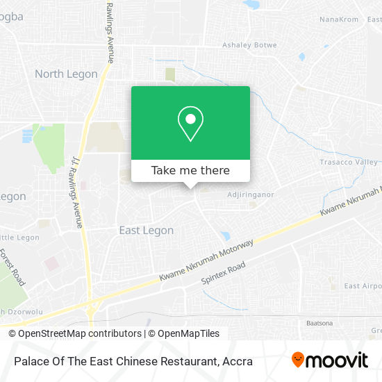 Palace Of The East Chinese Restaurant map