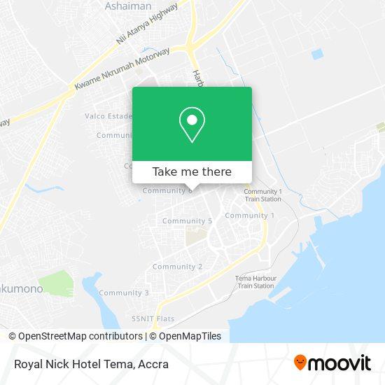 Royal  Nick Hotel Tema map