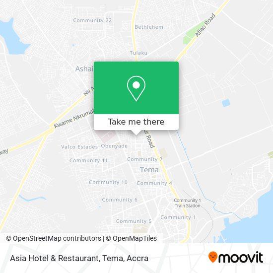 Asia Hotel & Restaurant, Tema map