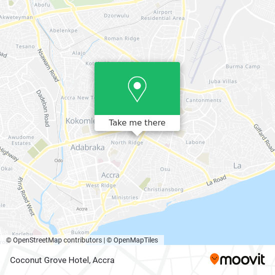 Coconut Grove Hotel map