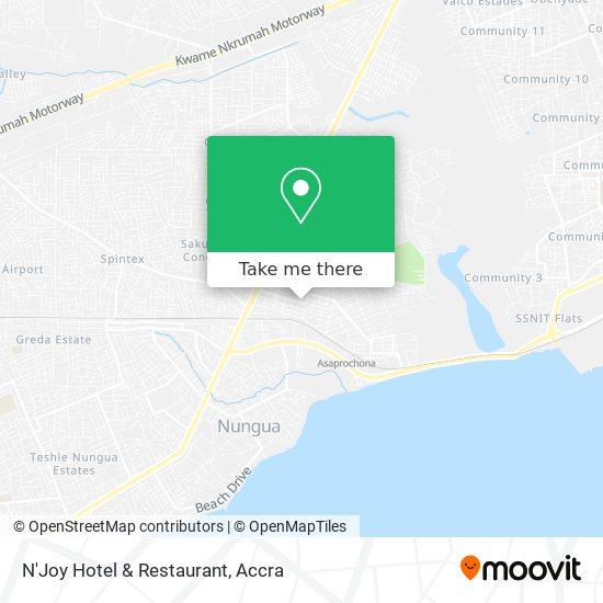N'Joy Hotel & Restaurant map