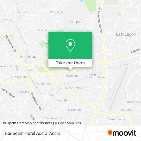 Earlbeam Hotel Accra map