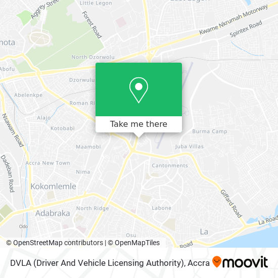 DVLA (Driver And Vehicle Licensing Authority) map