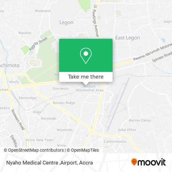 Nyaho Medical Centre ,Airport map