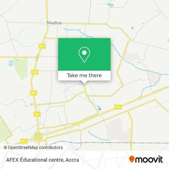 AFEX Éducational centre map