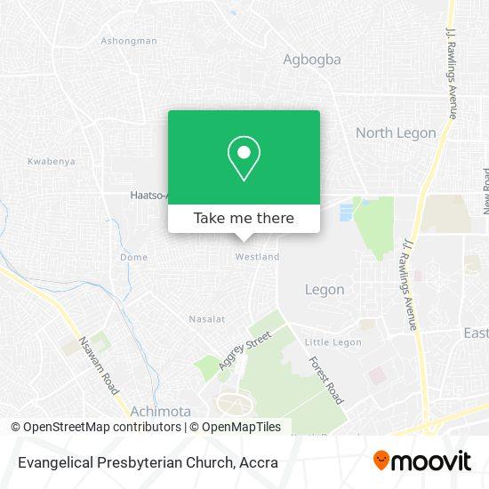 Evangelical Presbyterian Church map