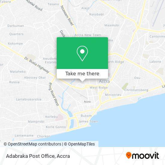 Adabraka Post Office map