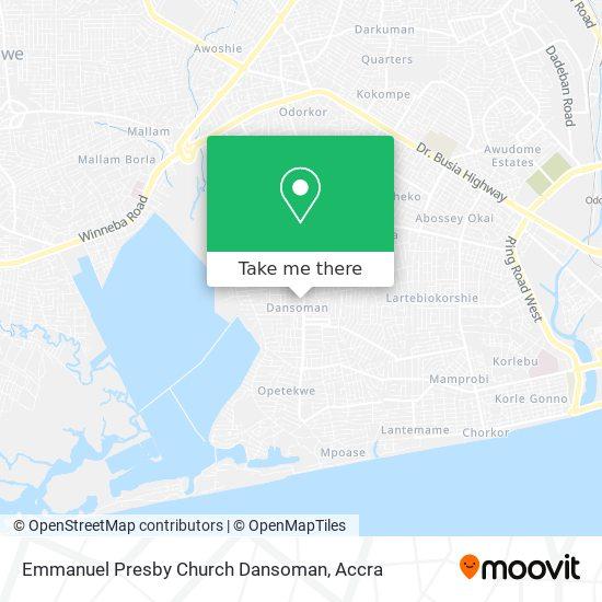 Emmanuel Presby Church Dansoman map