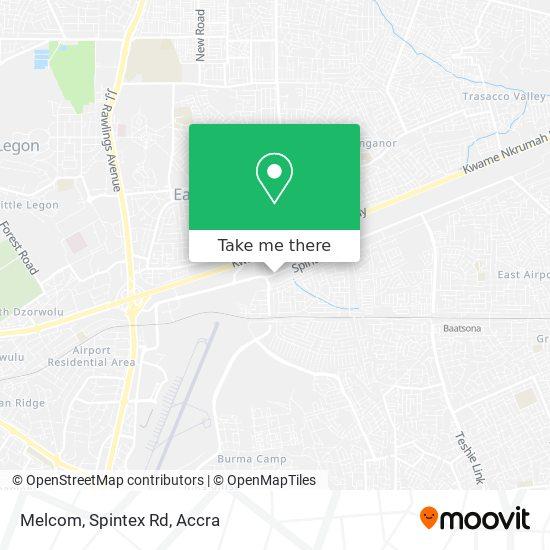 Melcom, Spintex Rd map