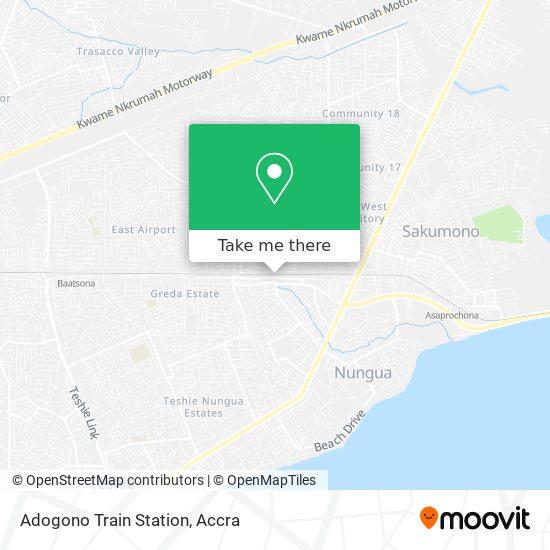 Adogono Train Station map
