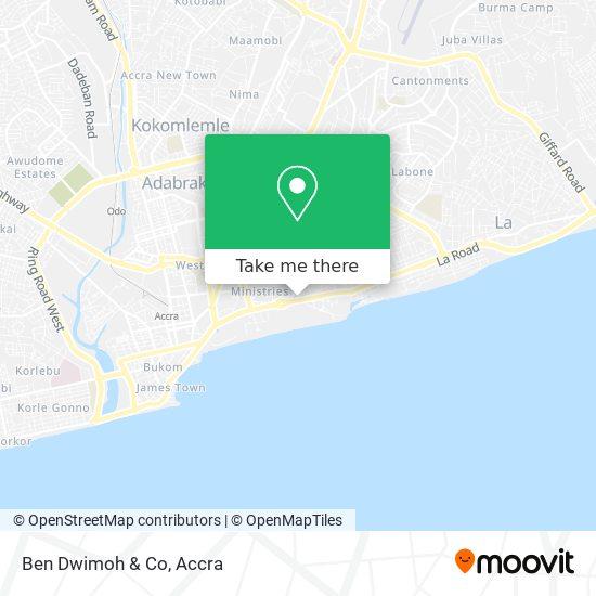 Ben Dwimoh & Co map