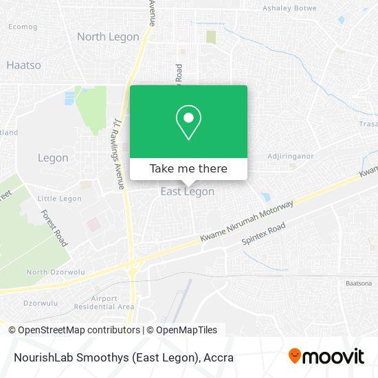 NourishLab Smoothys (East Legon) map