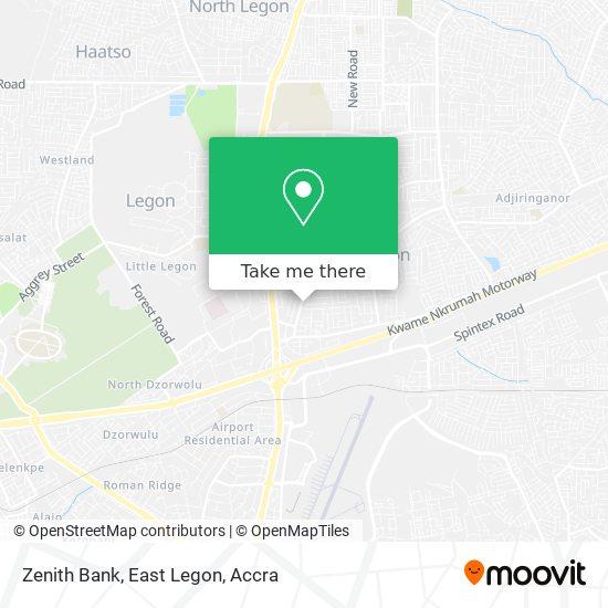 Zenith Bank, East Legon map
