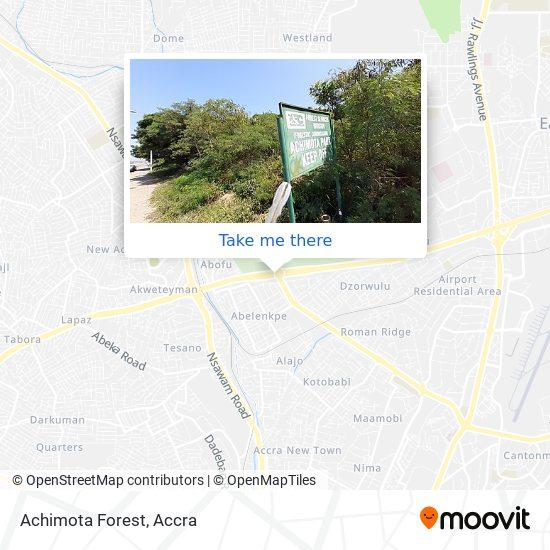 Achimota Forest map