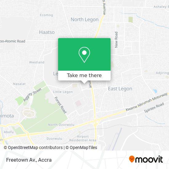 Freetown Av. map