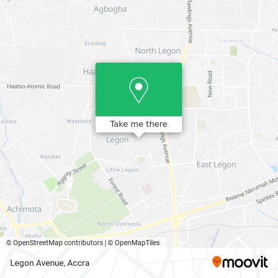 Legon Avenue map