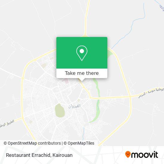 Restaurant Errachid plan