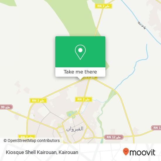 Kiosque Shell Kairouan plan