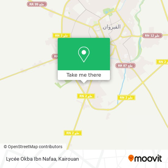 Lycée Okba Ibn Nafaa plan