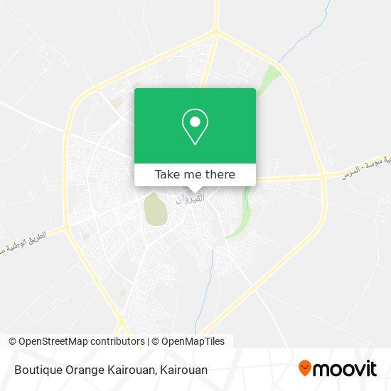 Boutique Orange Kairouan plan