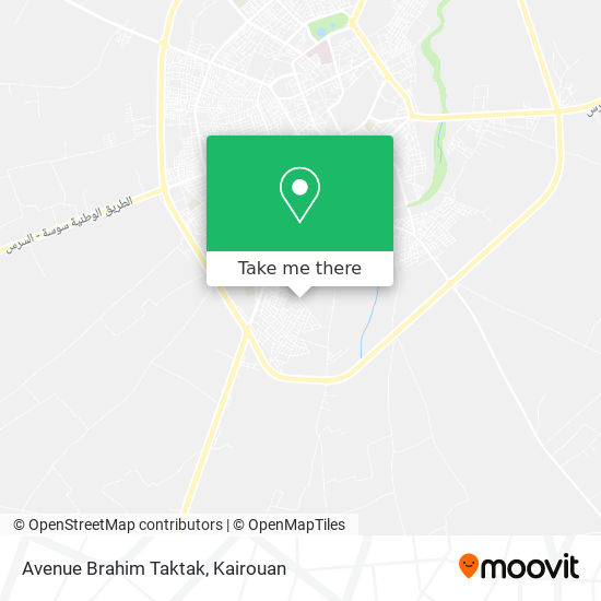 Avenue Brahim Taktak plan