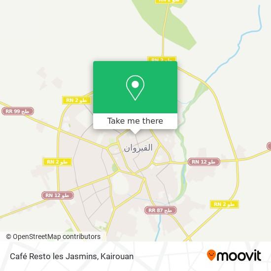 Café Resto les Jasmins plan