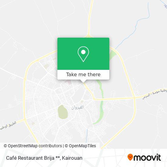 Café Restaurant Brija ** plan