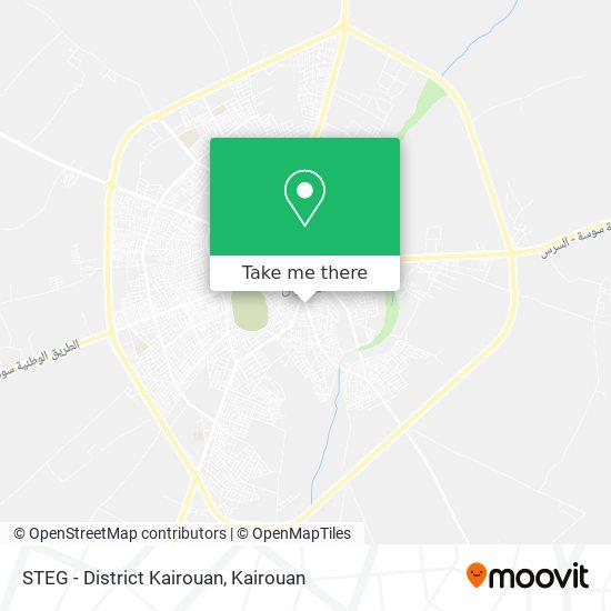 STEG - District Kairouan plan
