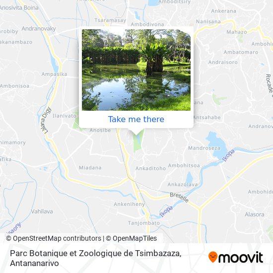 Parc Botanique et Zoologique de Tsimbazaza map