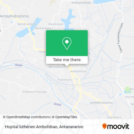 Hopital luthérien Ambohibao map