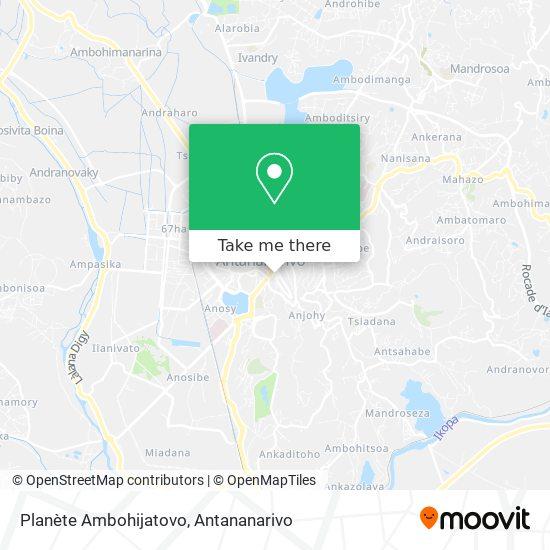 Planète Ambohijatovo map