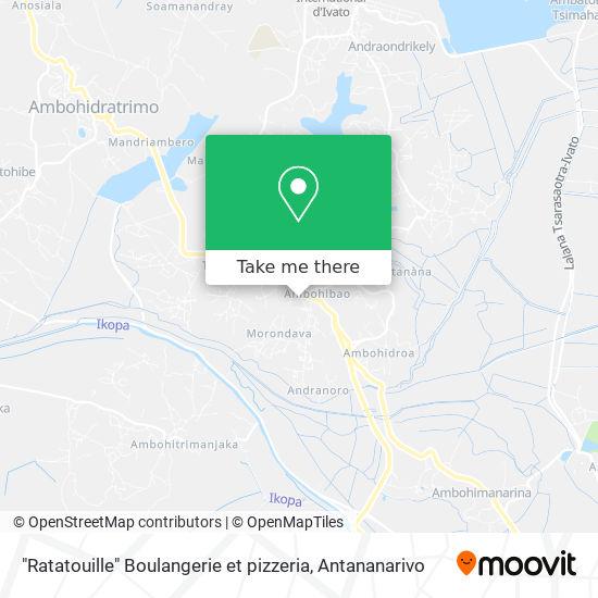 """""""Ratatouille"""" Boulangerie et pizzeria map"""