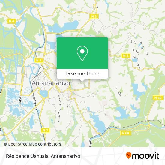 Résidence Ushuaia map
