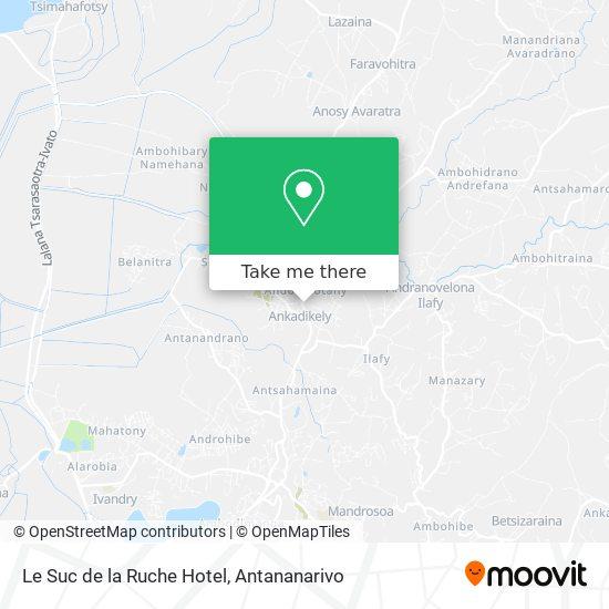 Le Suc de la Ruche Hotel map