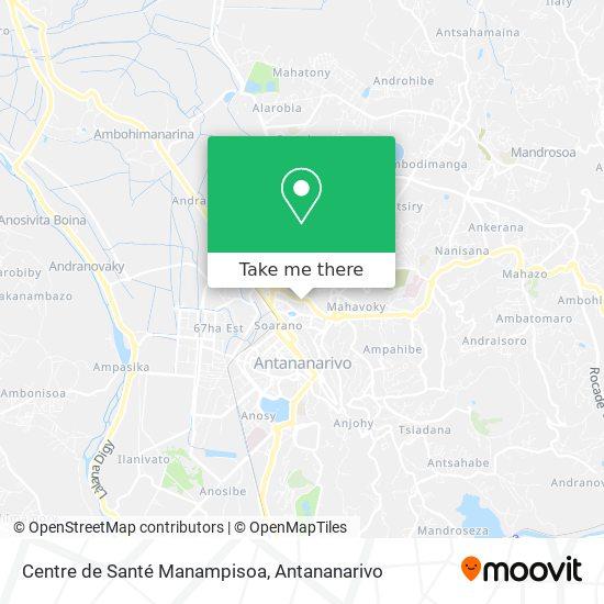 Centre de Santé Manampisoa map