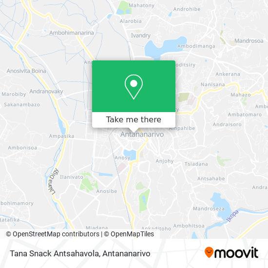 Tana Snack Antsahavola map
