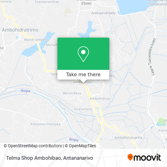 Telma Shop Ambohibao map