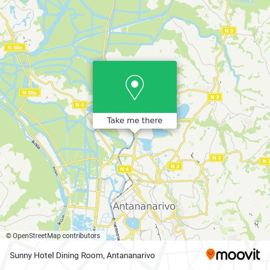 Sunny Hotel Dining Room map