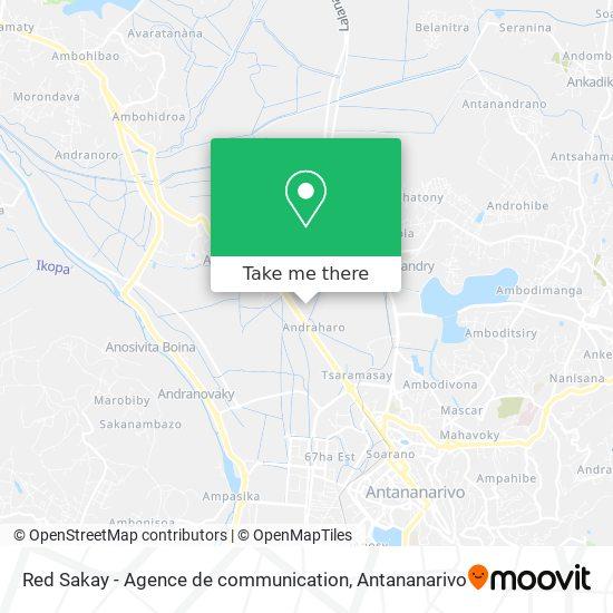 Red Sakay - Agence de communication map