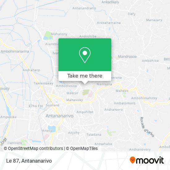 Le 87 map