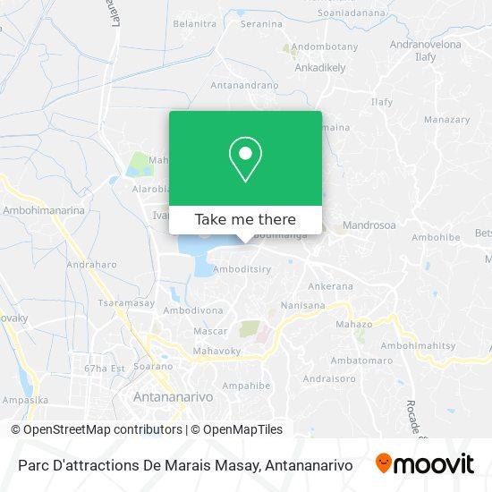 Parc D'attractions De Marais Masay map