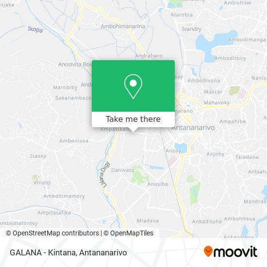 GALANA - Kintana map