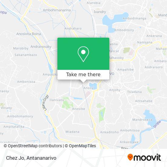 Chez Jo map