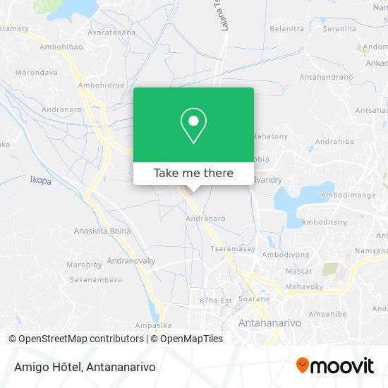 Amigo Hôtel map