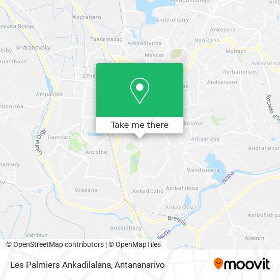 Les Palmiers Ankadilalana map